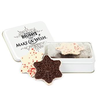 HOT DEAL - Keepsake Gift Tin with Snowflake Peppermint Bark