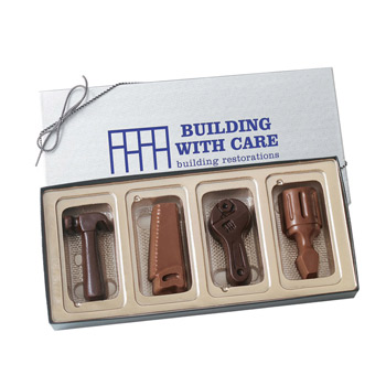 4 Chocolate Tools in a Gift Box