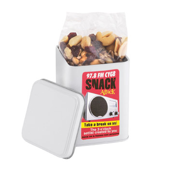 Canister Tin - Raisin Nut Trail Mix