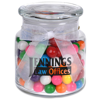 22oz. Glass Jar - Rainbow Bubble Gum
