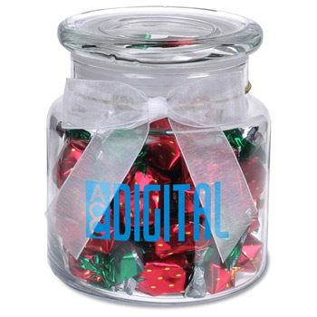 22oz. Glass Jar - Stock Wrapped Candies
