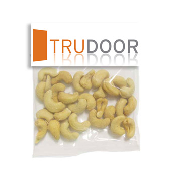 Large Header Bags - Jumbo Salted Cashews
