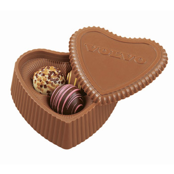 Heart Box with 3 Filled Assorted Truffles