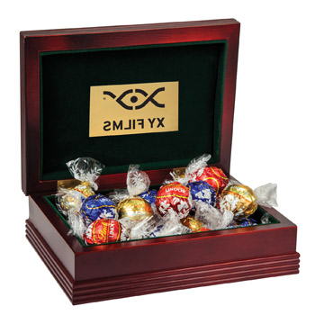 Deluxe Wood Box with Lindt Chocolate