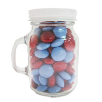 Glass Mini Mason Jars - Chocolate Buttons