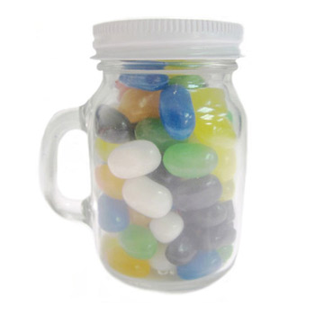 Glass Mini Mason Jars - Gourmet Jelly Beans