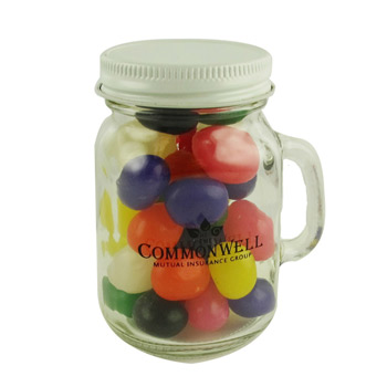 Glass Mini Mason Jars - Jelly Beans