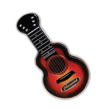 Red Acoustic Guitar Shaped Mint Tin