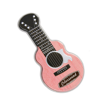 Pink Acoustic Guitar Shaped Mint Tin