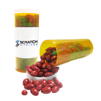 Small Promo Pill Bottles-Chocolate Sunflower Seeds