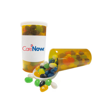 Large Promo Pill Bottles-Gourmet Jelly Beans