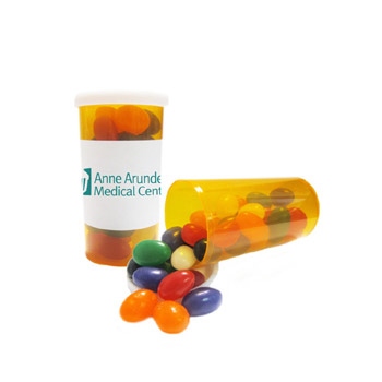 Large Promo Pill Bottles-Jelly Beans