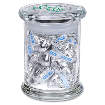 Glass Gourmet Jar - Hershey's Chocolate Kisses