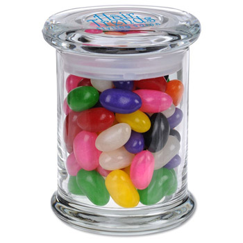 Glass Gourmet Jar - Jelly Beans