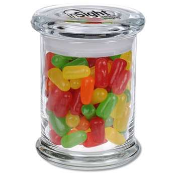 Glass Gourmet Jar - Mike & Ikes