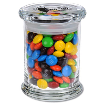 Glass Gourmet Jar - M&Ms