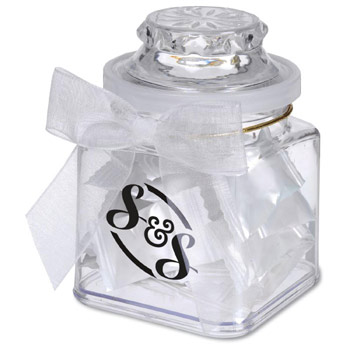 8oz. Plastic Jar - Stock Design Candies