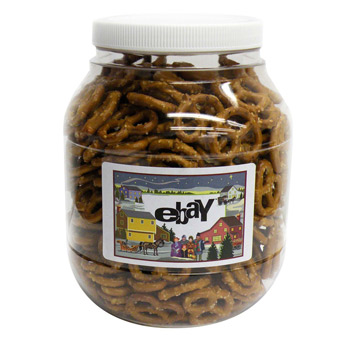 Large Plastic Jar - Salted Mini Pretzels
