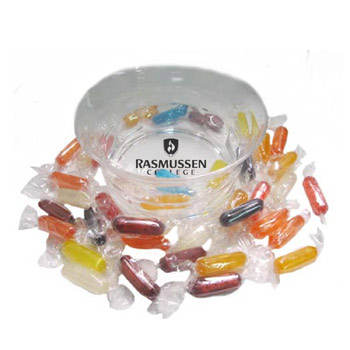 Acrylic Candy Dish - Assorted Hard Candy