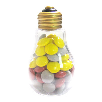 Plastic Light Bulbs - Chocolate Buttons