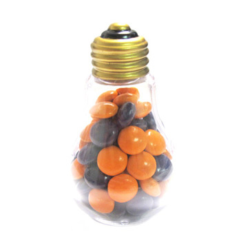 Plastic Light Bulbs - Chocolate Buttons Imprinted