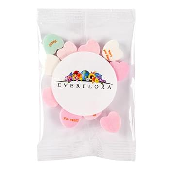 1/2 oz. Snack Pack - Imprinted Conversation Hearts