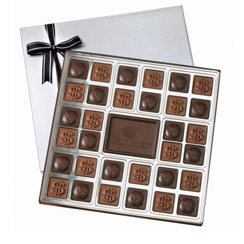 Custom Chocolate Squares Gift Box (1 1/2 lbs.)
