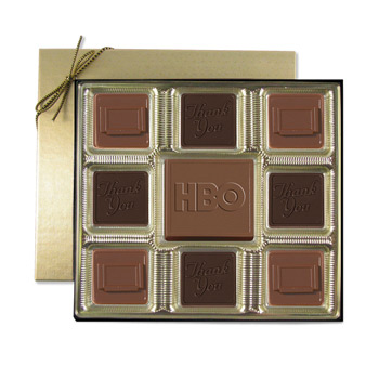 Custom Chocolate Squares Gift Box (6 oz.)