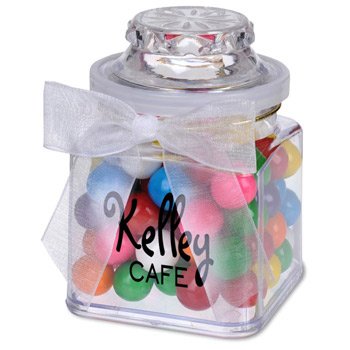 8oz. Plastic Jar - Rainbow Bubble Gum